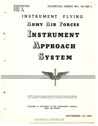 T.O. 30-100F-1 Instrument Flying - Instrument Approach System