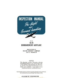 B-29 Inspection manual - Pre-flight and Ground Handling