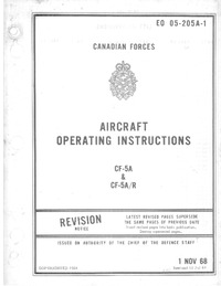 4063 E0 05-205A-1 Northrop CF-5A Freedom Fighter Aircraft Operating Instructions