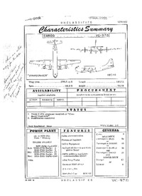 2839 VC-97D Stratocruiser Characteristics Summary - 23 March 1954