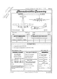 2832 C-97D Stratofreighter Characteristics Summary - 21 June 1956 (Yip)