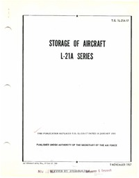 T.O. 1L-21A-17 Storage of Aircraft L-21A Series