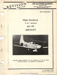 AN 01-40ALEB-1 Flight Handbook AD-5W Aircraft