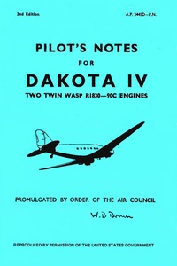 A.P. 2445D-P.N. Pilot's Notes for Dakota IV