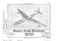RB-36F Peacemaker Standard Aircraft Characteristics - 1 March 1954