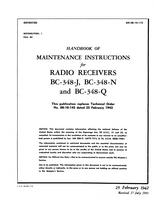 AN 08-10-112 Handbook of Maintenance Instructions for Radio Receivers BC-348J, -N and -Q -Rev July 43