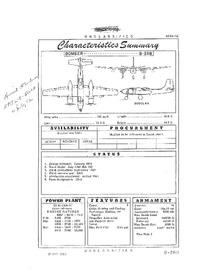 B-26B Invader (LEFT) Characteristics Summary - 17 May 1950