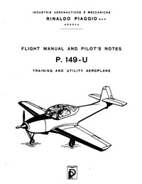 Flight Manual and Pilot's Notes P.149-U