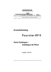 ErsatzteilKatalog Fournier RF-5 Parts Catalogue - Catalogue de pièce