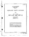 AN 01-50B-4 Airplane Parts Catalog for Army Models BT-13A and BT-15