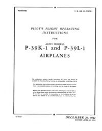 T.O. 01-110FG-1 Pilot's Flight Operating Instructions for P-39K-1 and P-39L-1