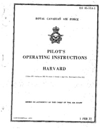 EO 05-55A-1 Pilot's Operating Instructions Harvard