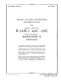 AN 01-35EB-1 Pilot's flight operating instructions for army models B-26B1 and -26C Marauder
