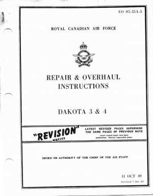 EO05-35A-3 Repair & Overhaul Instructions Dakota 3 & 4