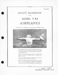 AN 01-65BJB-1 Pilot's Handbook for Model P-84 Airplanes