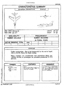 3361 F11F-1F Super Tiger Characteristics Summary - 21 February 1956 (Tommy - Incomplete)
