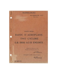 A.P. 1807B Pilot's Notes Havoc II Aeroplane
