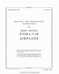 AN 01-60JF-2 Erection and Maintenance Instructions for P-51H-1,-5,-10 Airplane