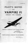 A.P. 4099A - Pilot's Notes for Vampire FI Goblin I or II engine