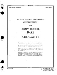 AN 01-5EQ-1 Pilot's Flight Operating Instructions for B-32 Airplanes