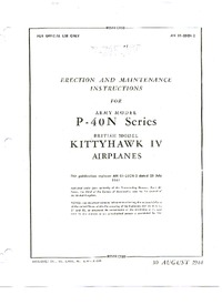 AN 01-25CN-2 Erection and Maintenance Instructions for P-40N Series - British model Kittyhawk IV Airplanes