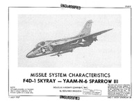 F4D-1 Skyray and YAAM-N-6 Sparrow MSC - 1 July 1957