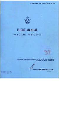 Autralian Air Publication 1129 Flight Manual Macchi MB-326H