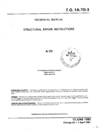 T.O. 1A-7D-3 Strutural Repair Instructions A-7D