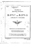 T.O. No 02-35A-1 Handbook of Operating Instructions R-975-7 and R-975-11 Aircraft Engines