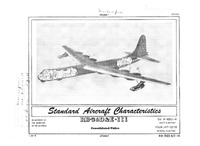 RB-36D and -36E (III) Peacemaker Standard Aircraft Characteristics - 1 August 1955