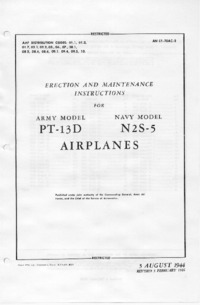 AN 01-70AC-2 Erection and maintenance instructions for PT-13D and N2S-5 Airplanes