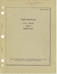 AN 01-85FGF-1 Flight Handbook F9F-8 Aircraft