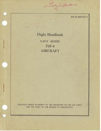 AN 01-85FGF-1 Flight Handbook F9F-8 Aircraft