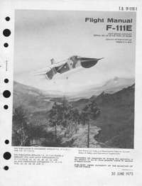 T.O. 1F-111E-1 Flight Manual F-111E