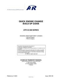 ATR 42-300 series Quick Engine Change Build Up Guide