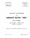 NBN-103 Notice Technique du carburateur injecteur Zenith - Licence Hobson