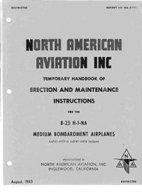 NA-5785 Temporary handbook of erection and maintenance instructions for the B-25 H-1-NA