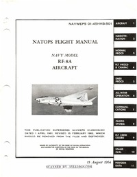 Navweps 01-45HHB-501 Natops Flight Manual RF-8A Aircraft