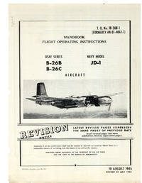TO-1B-26B-1 B-26B Handbook flight instruction