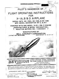 Pilot's Handbook of flight operating instructions for Bell X-1A, B and D Airplane
