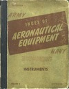 Army - Navy - Index of Aeronautical equipment volume 6 - Instruments