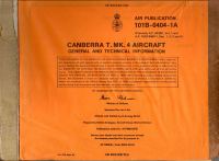 A.P.101B-0404-1A Canberra T.Mk4 - General and technical information