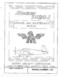 Mooney M20J Service and Maintenance manual