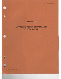 A.P. 101B-0900-1H Phantom FG MK.1 & FGR Mk.2 Aircraft Servicing Manual - Propulsion Systems - Section XI & XII - Apr power compressor system & Anti-ice System
