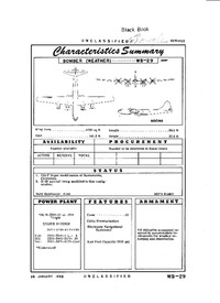 WB-29 Superfortress Characteristics Summary - 28 January 1952