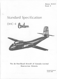 Aeroc 4.1.G.1 Standard specification DHC-4 Caribou
