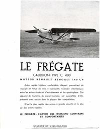 Brochure Caudron C.480 Fregate