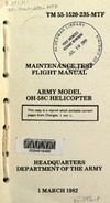 2655 TM 55-1520-235-MTF Maintenance Test Flight Manual OH-58C