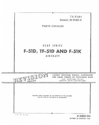 TO 01F-51D-4 Parts Catalog F-51D, TF-51D and F-51K