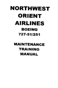 2851 Northwest Orient Airlines Boeing 727-51/251 Maintenance Training Manual Chapter 21l